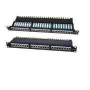 "Patchpanel 19"" cat.5e, 24xRJ45-1HU, ecranat, suport de cabluri integrat, LanKATT (full shielded)"