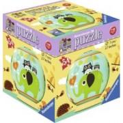 PUZZLE 3D BUFNITA SI ELEFANT 54 PIESE
