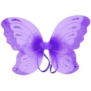 """Asianhobbycrafts Jewel Butterfly Fairy Wings (21"""") Select Color: purple"""