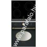 SMEG P864A-9 - SFP805AO Rusztikus sütõ üvegkerámia fõzõlap szett