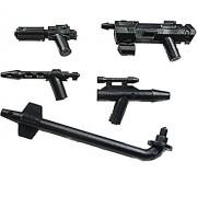 Little Arms - 5 Armas futuristicos - DC-17, Fleet Blaster, Pistola - por las minifiguras de LEGO