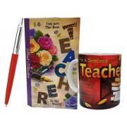 Saugat TradersTM Gift For Teacher - Surprise Box, Teacher Quote Coffee Mug & Parker Pen