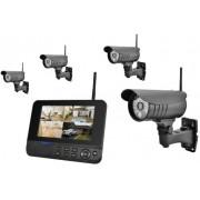 MT Vision Sistema de videovigilancia inalámbrico con 4 canales, 4 cámaras de vídeo