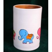 Vas pictat manual - Colectia Elefantei