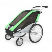 Thule Chariot Cheetah 1 + Kit de paseo - Carrito multifuncional Remolques para niños