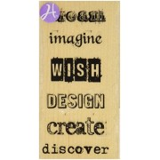 Hampton Art Expressions Rubber Stamps, Dream