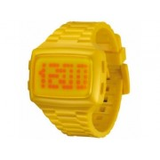LED LED-YW-STP Unisex Digital Yellow Dial And Pu Strap Watch