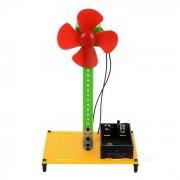 Electrico ensamblaje del ventilador de juguetes educativos DIY Kit - Rojo + Verde + Multi-Color (2 x AA)