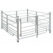 vidaXL 4 painéis de cerca aço galvanizado para ovelhas 137 x 92 cm