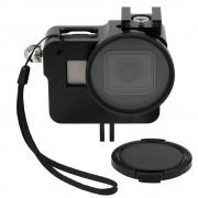 Rama de protectie din aluminiu cu filtru UV de 52mm pentru GoPro Hero 5, 6 (Negru)