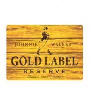 Placa Decorativa em MDF Whisky Gold Label Jack Daniels