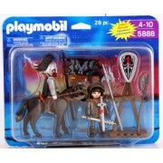 Playmobil Knights with Horse, Armor and Accessories 28 Piece Playset 5888 by PLAYMOBILÃ'®