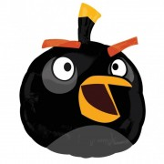 Balon folie figurina Black Angry Birds, Amscan 25466