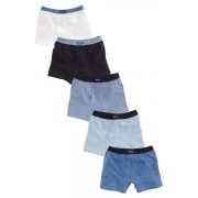 Next Blue 5 Pack Trunks (2-16yrs) - Blue