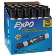 Low Odor Dry Erase Marker, Chisel Tip, Black, 36/box