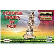 Puzzled Inc. 3D Natural Wood Puzzle - Leaning Tower of Pisa