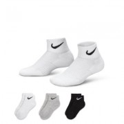 Nike Cotton Cushion Quarter (8y-15y) Kids' Socks (3 Pair)