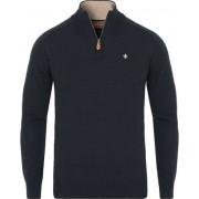 Morris Merino John Half Zip Sweater Navy