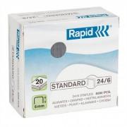 Tűzőkapocs, 24/6, horganyzott, RAPID Standard [5000db]