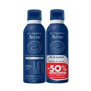 Homem gel de barbear pele sensível com imperfeições 2x150ml - Avene