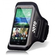 HTC One M9 Armband JOTO Sport Armband Case for HTC M9 (2015) with Key Holder Credit Card / Money Holder Sweat Proof best for Gym Sports Fitness Running Exercise Workout [ HTC One M9 Sport Armband ] (Black)