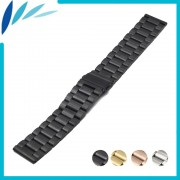 Stainless Steel Watch Band 18mm 20mm 22mm 23mm 24mm for Fossil Folding Clasp Strap Quick Release Loop Belt Bracelet Black Silver