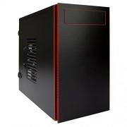 In Win EM058 Matx, colore: nero/rosso