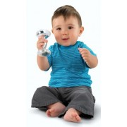 Fisher-Price Baby's First Silver Dumbbell Rattle