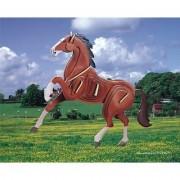 Puzzled Horse Pre-Colored Wooden 3D Puzzle Construction Kit