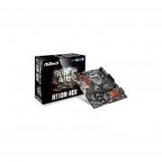 Tarjeta Madre ASRock H110M-HDV 2xDDR4 PCI-E 2xUSB3 HDMI Socket 1151-Negro