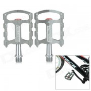 CYCLETRACK CK-108 ligero de aluminio mecanizado en CNC Pedales de la bicicleta - gris plateado (2 PCS)