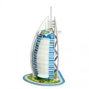 3D Puzzle Burj Al Arab Yacht Hotel Dubai Model Kit, 25 Pieces