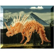 Puzzled Styracosaurus Large Wooden 3D Puzzle Construction Kit by Puzzled
