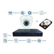 Kamerový set 1x kamera 720P s 30m IR a hybridný DVR + 1TB HDD