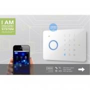 CHUANGO CG-G5 :: Безжична алармена система, сензорен панел, GSM/SMS управление, 2x RFID тагове, 2 дистанционни, с PIR и Door датчици в комплекта