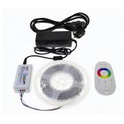 9m RGB vysokosvietivý LED pasik, efektný ovladac na výber, kompletna sada, 9B