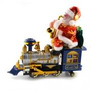 Mos craciun pe locomotiva canta Jingle Bells