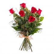 Interflora 6 Rosas Rojas de Tallo Largo - Sexta