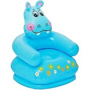 Intex inflatable PVC Happy animal chair blue