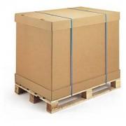 RAJAPACK Brauner Wellpapp-Container mit Boden/Deckel Element, 1160 x 775 x 900