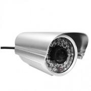 Foscam FI9805E 960p H.264 Outdoor Day/Night PoE IP Camera, 1.3MP, 36 IR LEDs, 30m/164.04' Night Vision, Silver