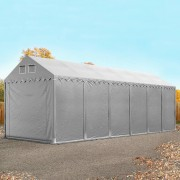 Intent24 4x12m XXL hangar, entrepôt, PVC, H. 2,6m, gris