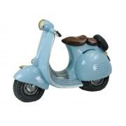 Hucha scooter azul claro