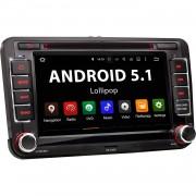 """VW-07A: 2DIN Android 5.1 Navi Autoradio mit 7 Zoll Touchscreen Monitor, Bluetooth, SD und USB"""