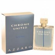 Chrome United For Men By Azzaro Eau De Toilette Spray 3.4 Oz