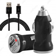 Ebeststar® Chargeur Voiture Allume-Cigare 1a + Câble Micro Usb Pour Blackberry Bold Touch 9900, Noir