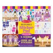 Melissa & Doug Reusable Sticker Pad - Dress Up - Pink