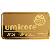 Lingot d'Or 1 Once (31,10 g) - Umicore
