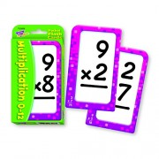"""Multiplication Flash Cards, 3-1/8""""x5-1/4"""", 56CDs, Multi, Sold as 1 Box"""