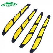Carking goma de la puerta del coche a los aranazos protector de borde de la Guardia - Negro + Amarillo